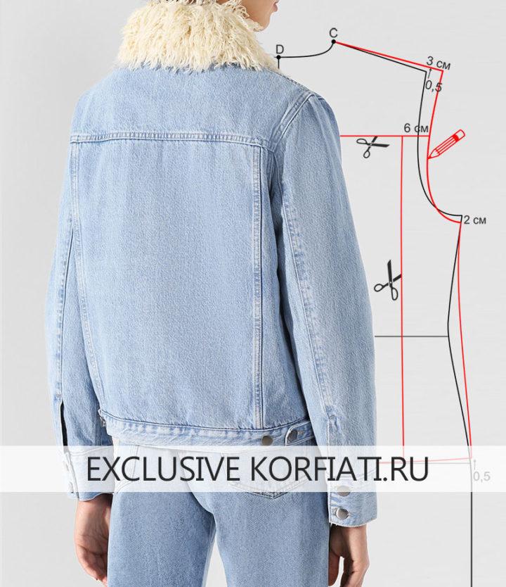 Джинсовая куртка - вид со спины