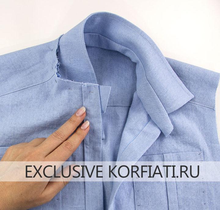 Советы по пошиву женской рубашки - обработка воротника на стойке