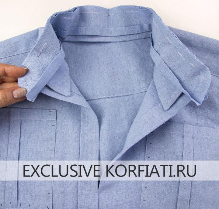 Мастер-класс по пошиву женской рубашки - воротник