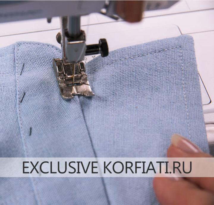 Как сшить женскую рубашку - как отстрочить стойку