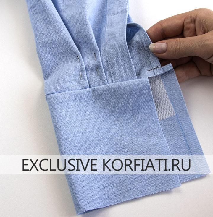 Как сшить женскую рубашку - обработка манжет