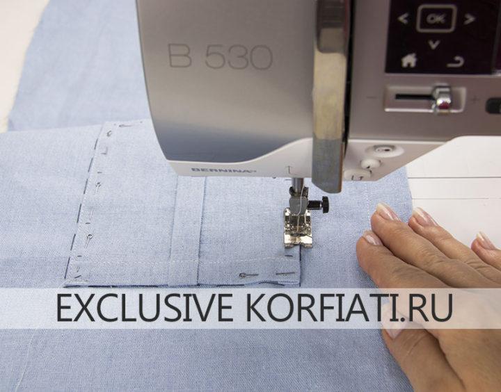 Мастер-класс по пошиву рубашки - как настрочить накладные карманы