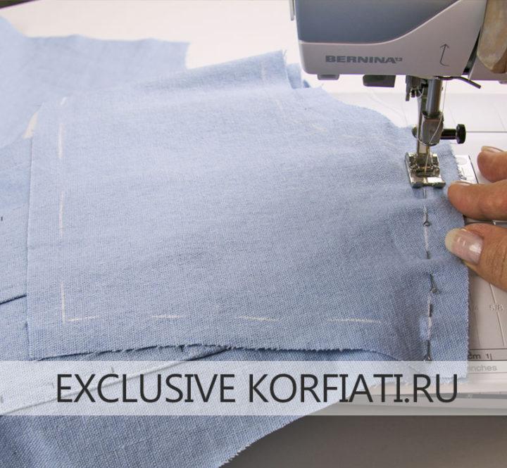 Как сшить женскую рубашку - притачать кокетку