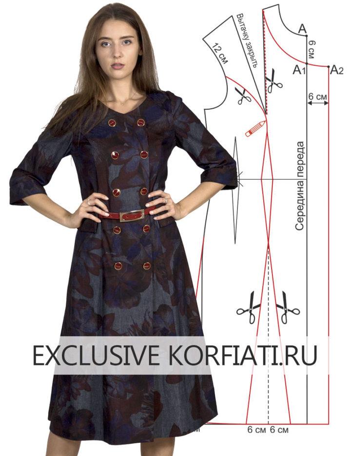Как сшить классическое двубортное платье