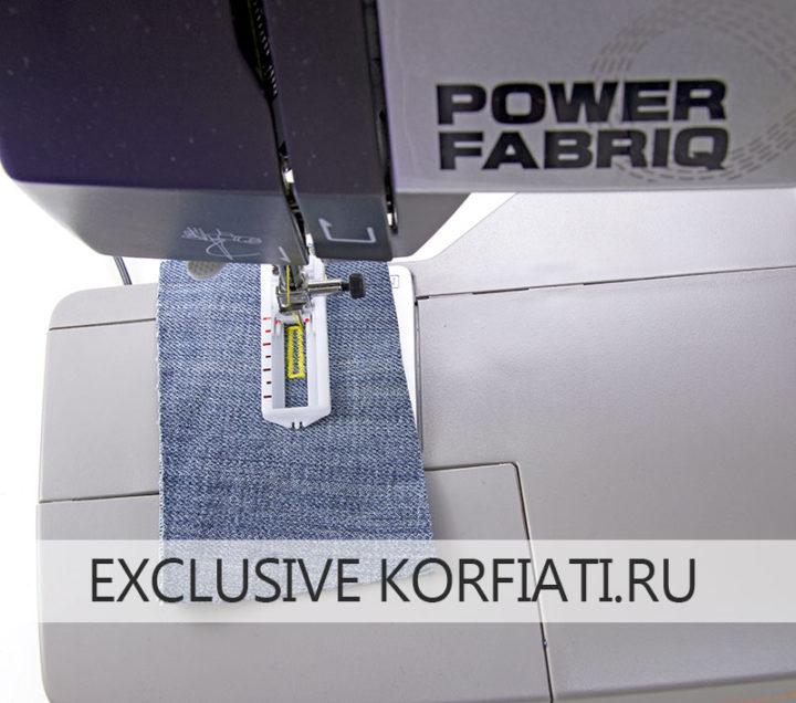 Выметывание петли на швейной машине Toyota Power Fabriq 17