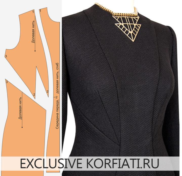 Моделирование выкройки платья с вытачками