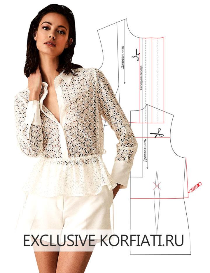 Моделируем выкройку блузки
