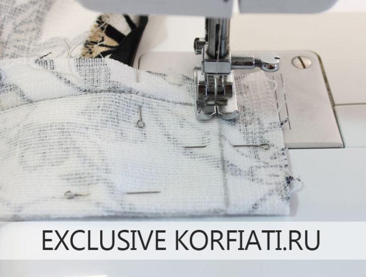 Как сшить юбку шестиклинку - обработка пояса