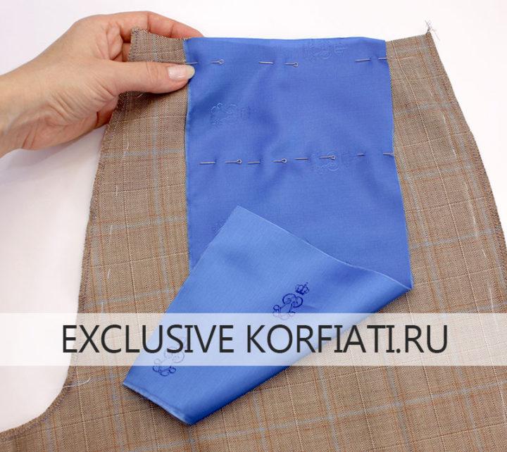 Мастер-класс по обработке заднего кармана брюк