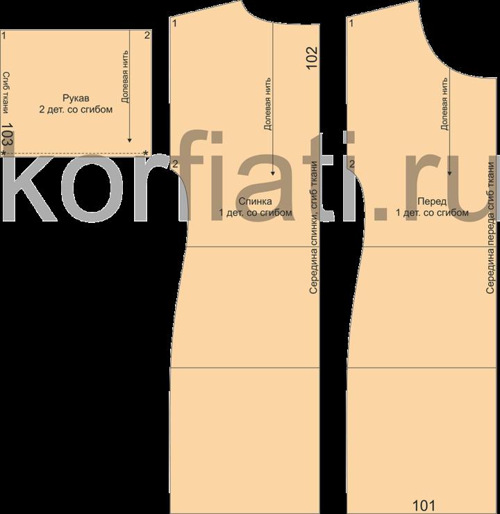 Детали кроя ажурного платья