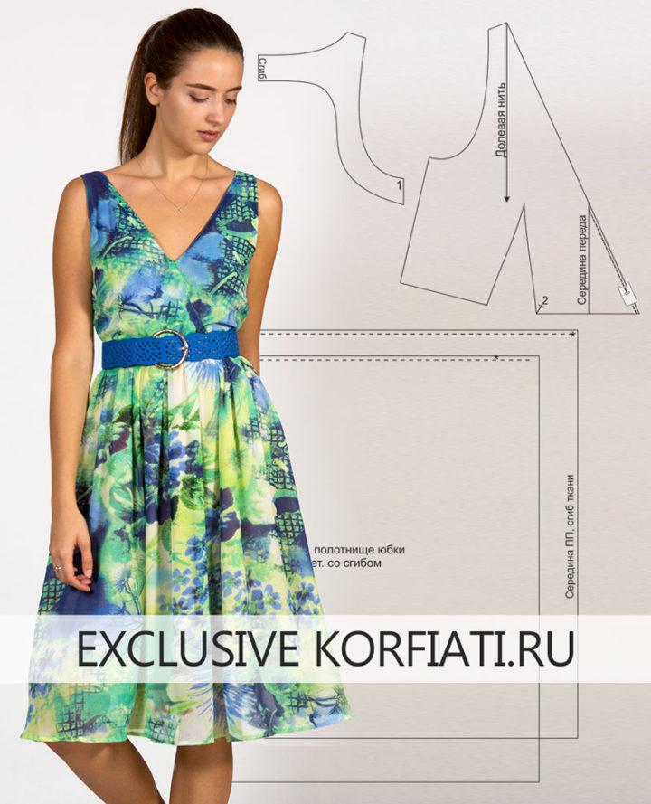 Платье без застежки - моделируем выкройку