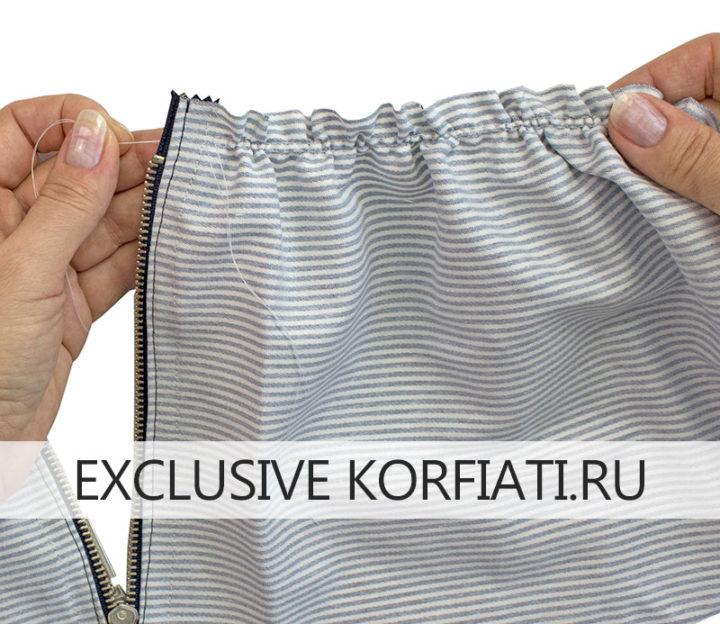 Как сшить юбку-татьянку - обработка пояса
