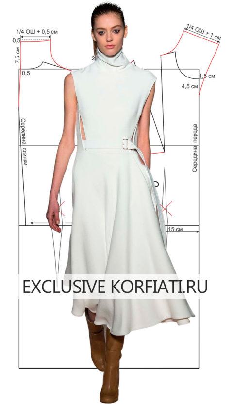 Выкройки летнего платья без рукавов ткань в расцветке мультикам купить в