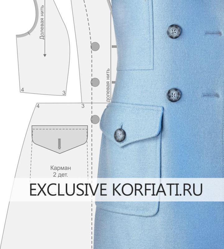 Выкройка пальто из лодена - моделирование