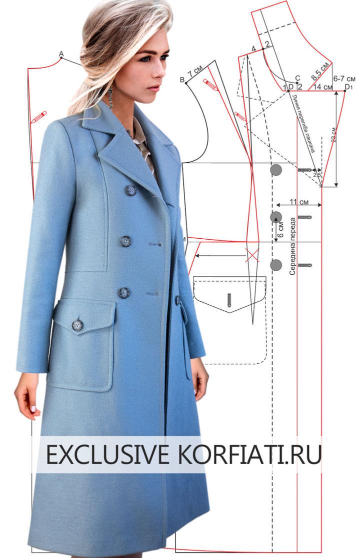 Выкройка демисезонного пальто