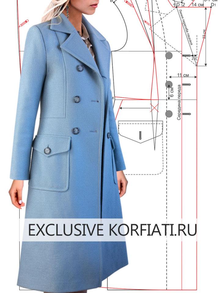 Технология пошива женского пальто - от выкройки до готового изделия