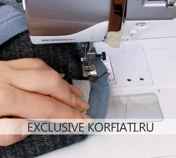 Технология обработки отлетного воротника пальто