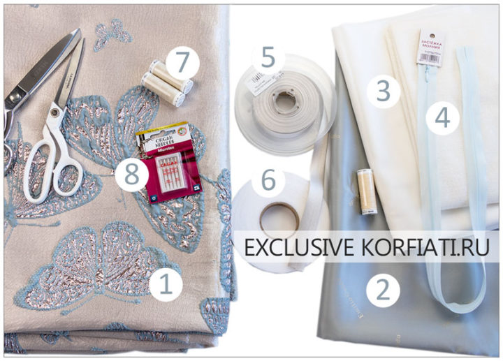 Материалы для пошива платья