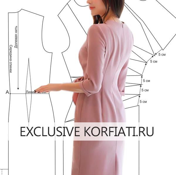 Выкройка асимметричного платья