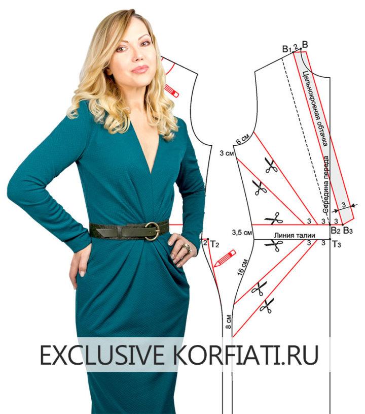 Выкройка облегающего платья