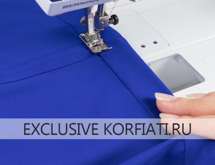 Способы подгиба низа юбок - на швейной машине