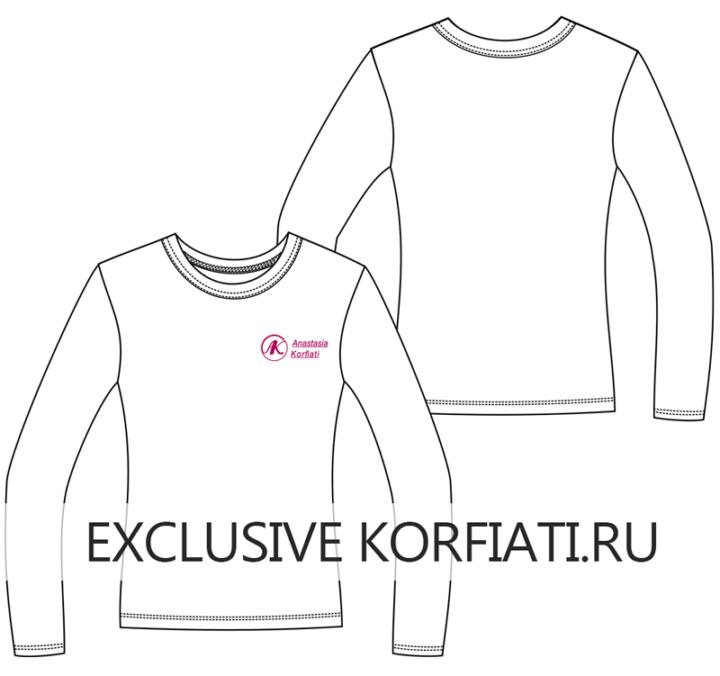 Эскиз футболки с длинным рукавом