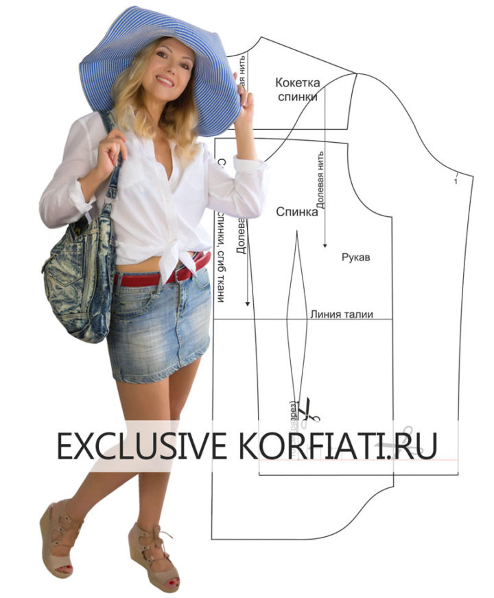 Белая женская рубашка - выкройка и мастер-класс по пошиву. С чем носить?