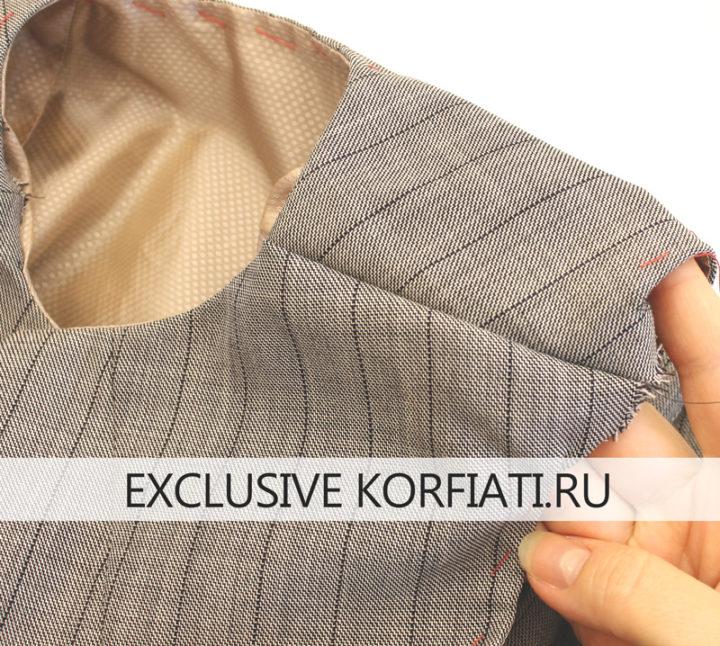 Обработка пройм и горловины платья-футляра подкладкой