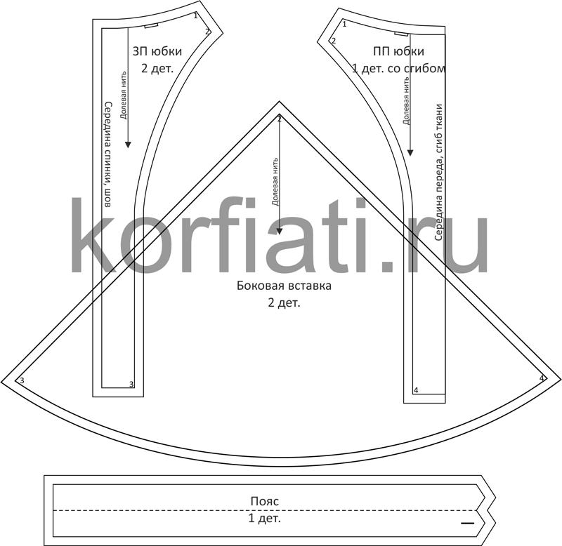 Моделирование выкройки расклешенной юбки
