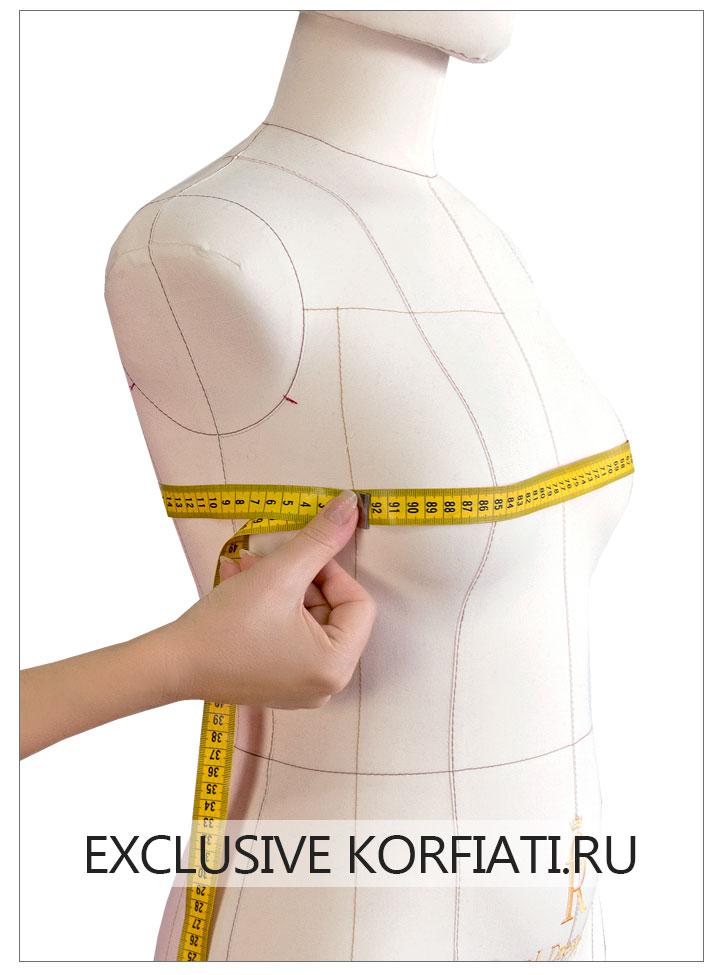 Снятие мерки Обхват груди с использованием манекена