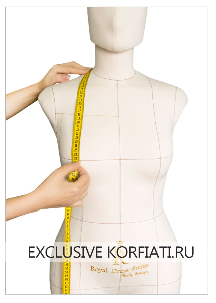 Снятие мерки Высота груди на манекене