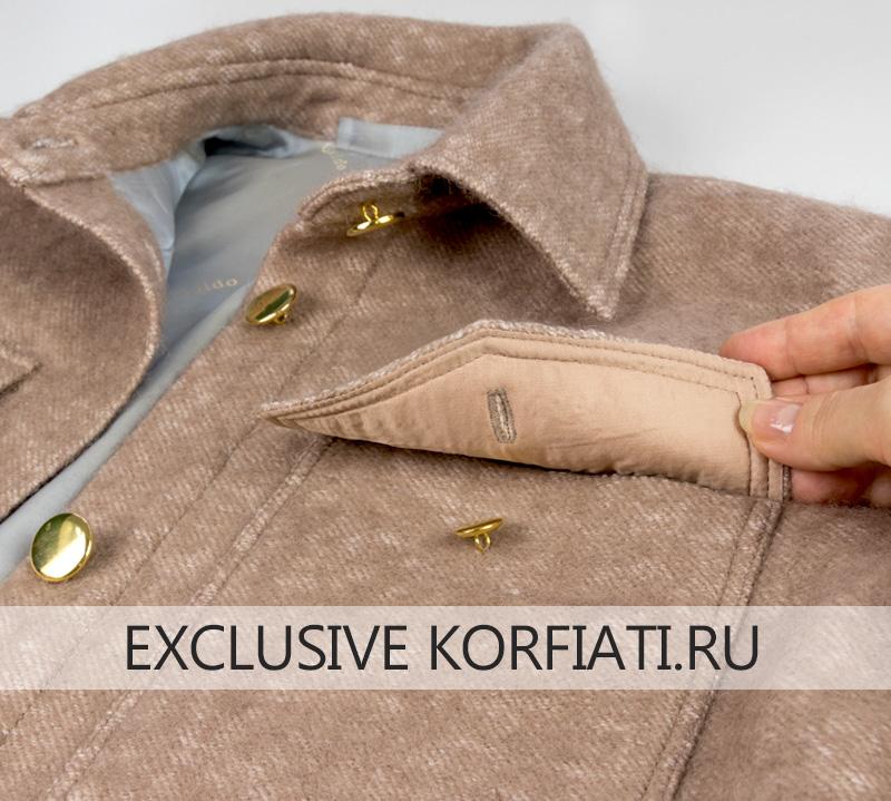Как сшить пальто-рубашку - изделие в готовом виде фото