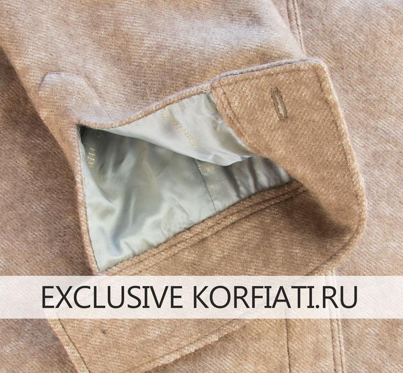 Рукав пальто-рубашки - вид с лицевой и изнаночной сторон фото