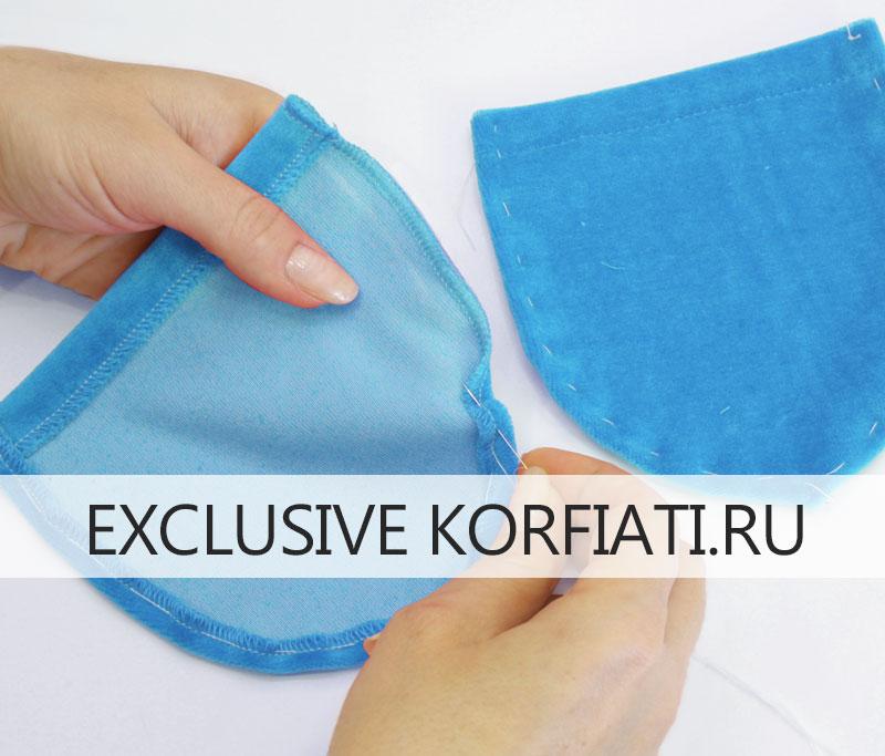 Как сшить трикотажные брюки на резинке - припуски карманов