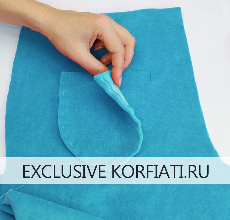 Как сшить брюки на резинке - карман по разметке