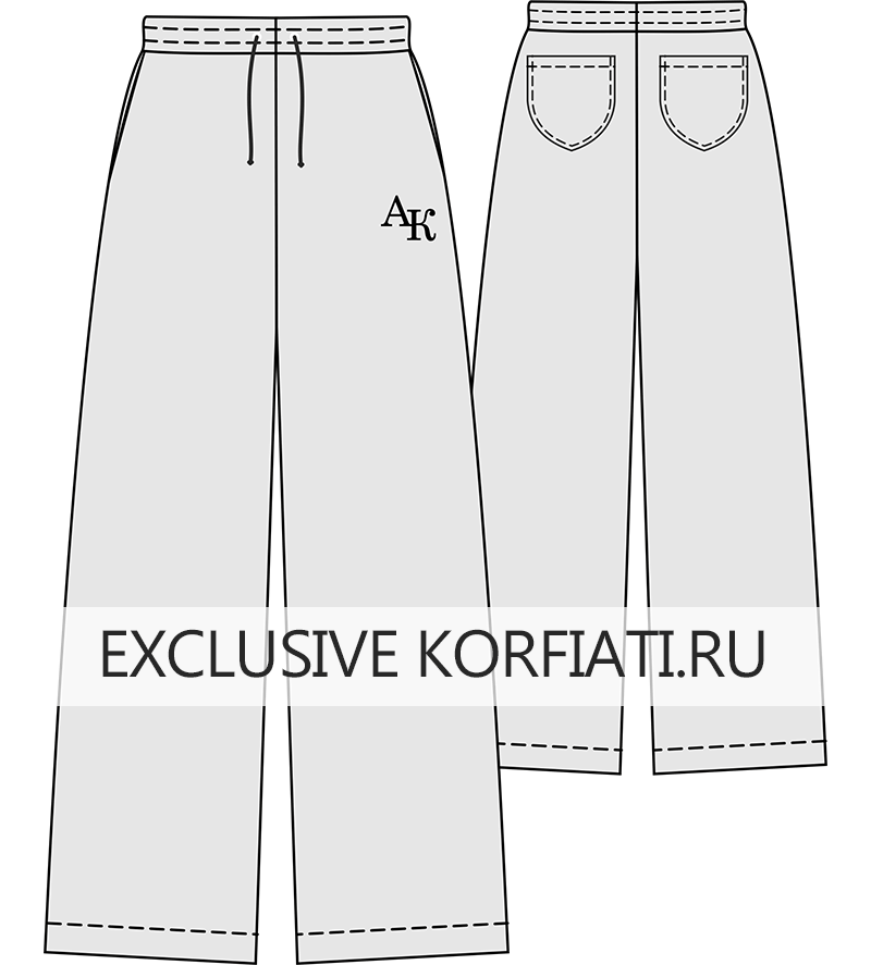 Эскиз трикотажных брюк