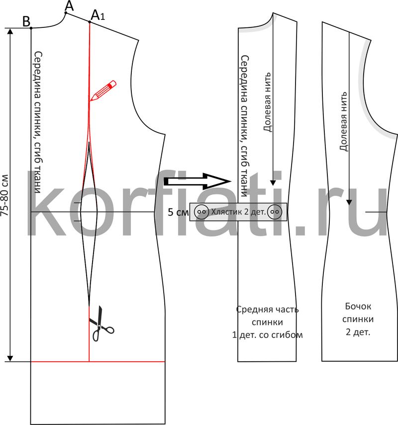 Моделирование пинки пальто-бушлата чертеж