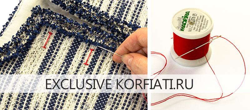 Разметка петель при помощи швейных ниток